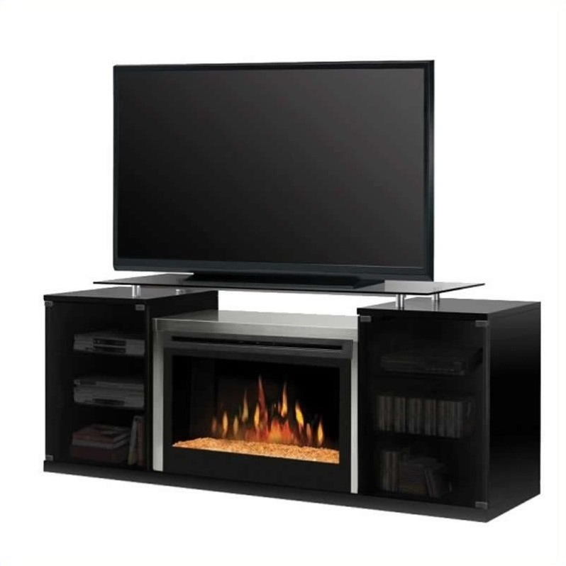 Dimplex Marana 76 TV Stand In Black With Electric