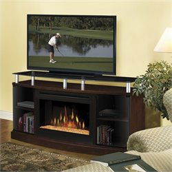 Dimplex Windham Flatpanel TV Stand and Electric Fireplace in Mocha