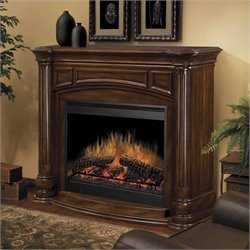 Dimplex Belvedere Electric Fireplace in Burnished Walnut