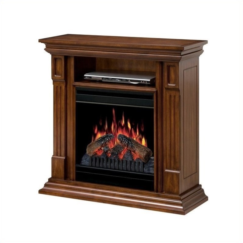 Dimplex Deerhurst Electric Fireplace Media Console in Walnut
