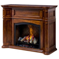 Dimplex Thompson Optymist Electric Fireplace in Burnished Walnut