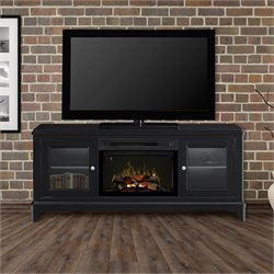 Dimplex Winterstein Media Electric Fireplace with Logs in Black