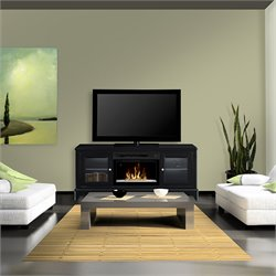 Dimplex Winterstein Media Electric Fireplace with Glass Bed in White