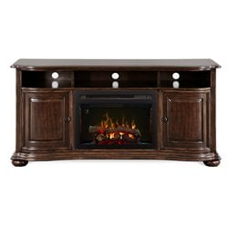 Dimplex Henderson Media Electric Fireplace with Logs in Cherry