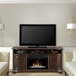 Dimplex Henderson Media Electric Fireplace with Glass Bed in Cherry