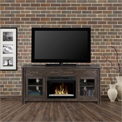 Dimplex Woolbrook Electric Fireplace with Glass Bed in Nutmeg