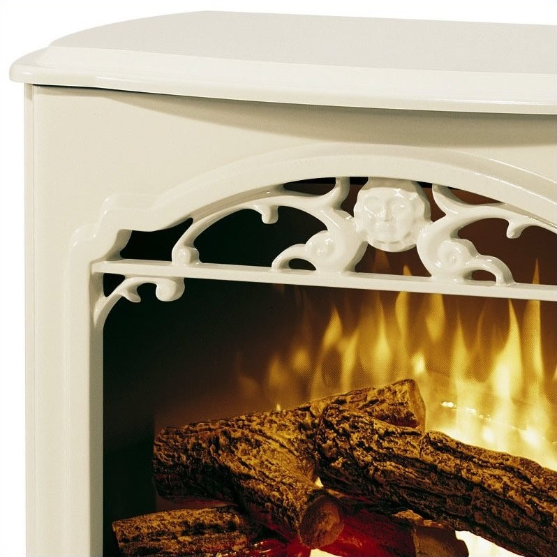 Dimplex Symphony Stoves Celeste Electric Fireplace Stove Heater in Cream
