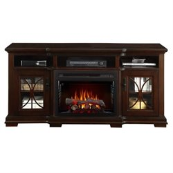 Dimplex Scarlett TV Stand with Electric Fireplace in Cappuccino