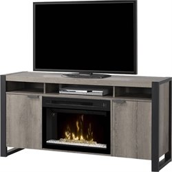 Dimplex Pierre Electric Fireplace TV Stand in Steeltown