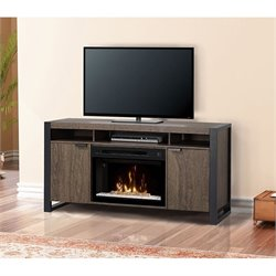 Dimplex Pierre Electric Fireplace TV Stand in Elm Brown