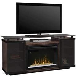 Dimplex Aiden Electric Fireplace TV Stand in Peppercorn