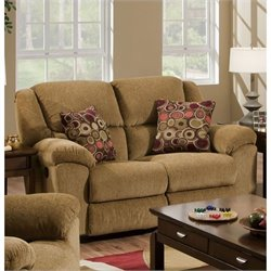 Catnapper Transformer Rocking Reclining Loveseat in Beige