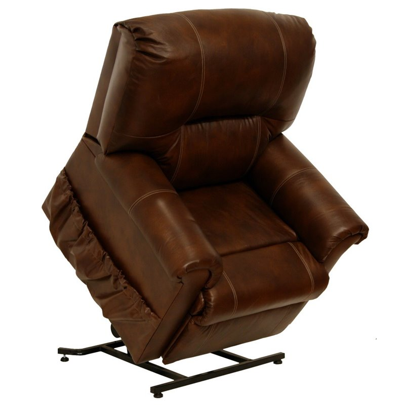 recliners catnapper vintage leather touch power lift recliner chair in