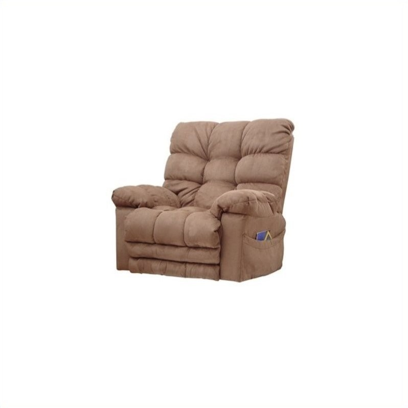 Catnapper magnum chaise rocker recliner in saddle for 1x super comfort recliner chaise