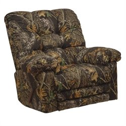 Catnapper Magnum Chaise Rocker Recliner Chair in Mossy Oak