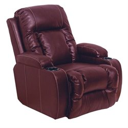 Top Gun Inch Away Home Theater Recliner in Red