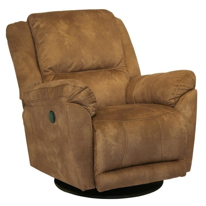 catnapper maverick chaise swivel glider recliner chair in