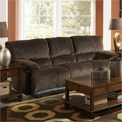 Catnapper Escalade Polyester Dual Reclining Sofa in Chocolate