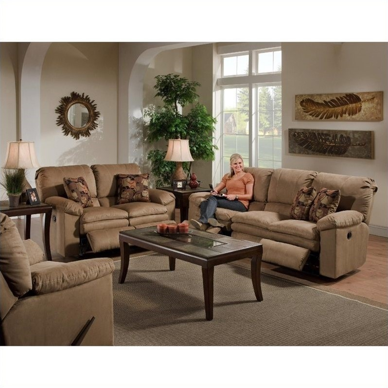 Catnapper Impulse 3 Piece Reclining Sofa Set in Cafe and Espresso