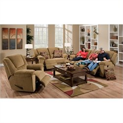 Catnapper Transformer 3 Piece Recline Sofa Set in Beige