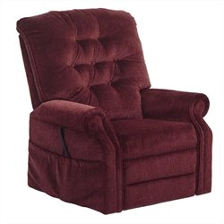 Catnapper Patriot Power Lift Full Lay-Out Oversized Recliner Chair in Vino