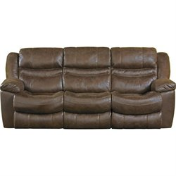 Catnapper Valiant Fabric Power Reclining Sofa in Elk
