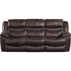 Catnapper Valiant Power Reclining Sofa with Drop Down Table in Coffee