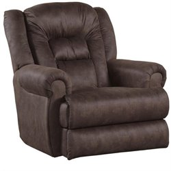 Atlas Extra Tall Wall Proximity Fabric Recliner in Sable