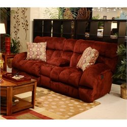 Siesta Console Loveseat in Wine