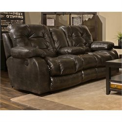 Catnapper Watson Faux Leather Power Lay Flat Reclining Loveseat