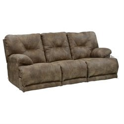 Catnapper Voyager Lay Flat Reclining Sofa in Brandy