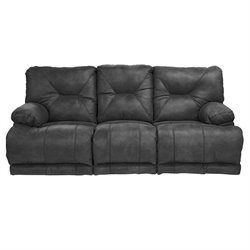 Catnapper Voyager Lay Flat Reclining Sofa in Slate