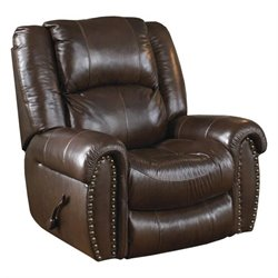 Jordan Leather Lay Flat Recliner in Tobacco