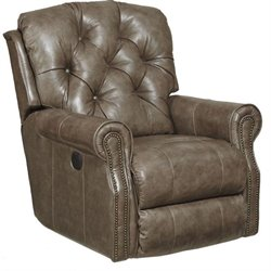 Davidson Leather Rocker Recliner in Smoke
