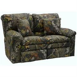 Catnapper Duck Dynasty Reclining Fabric Loveseat in Moss
