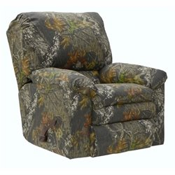 Catnapper Duck Dynasty Rocker Fabric Recliner in Moss