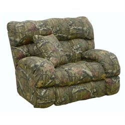 Duck Dynasty Lay Flat Fabric Recliner in Moss