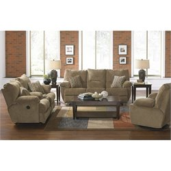 Catnapper Gavin 3 Piece Reclining Console Sofa Set in Desert