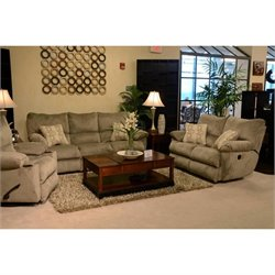 Catnapper Gavin 3 Piece Reclining Sofa Set in Taupe