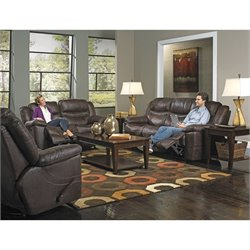 Catnapper Valiant 3 Piece Power Reclining Sofa Set in Coffee