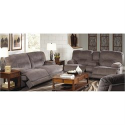 Catnapper Noble Lay Flat 2 Piece Reclining Fabric Sofa Set in Slate