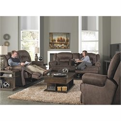 Catnapper Atlas Extra Tall 3 Piece Power Reclining Sofa Set in Sable