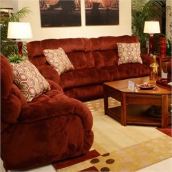 Siesta 2 Piece Sofa Set in Wine
