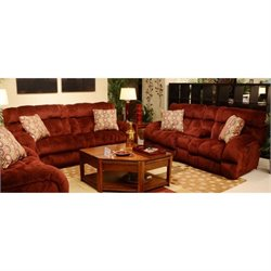 Siesta 2 Piece Sofa Set in Wine II