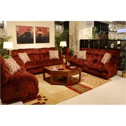 Siesta 3 Piece Sofa Set in Wine