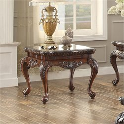 Homelegance Mariaclara End Table in Dark Cherry