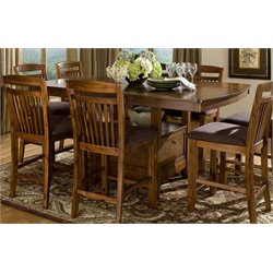 Trent Home Marcel Counter Height Dining Table in Warm Oak