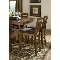 Trent Home Marcel Counter Stool in Warm Oak (Set of 2)