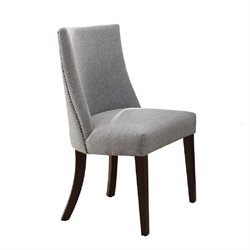 Trent Home Chicago Upholstered Side Chair in Deep Espresso (Set of 2)