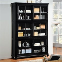 Trent Home Hanna 4 Piece Barrister Wood Bookcase Set in Black